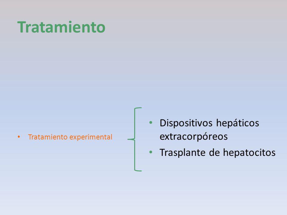 Tratamiento Tratamiento experimental Dispositivos hepáticos extracorpóreos Trasplante de hepatocitos