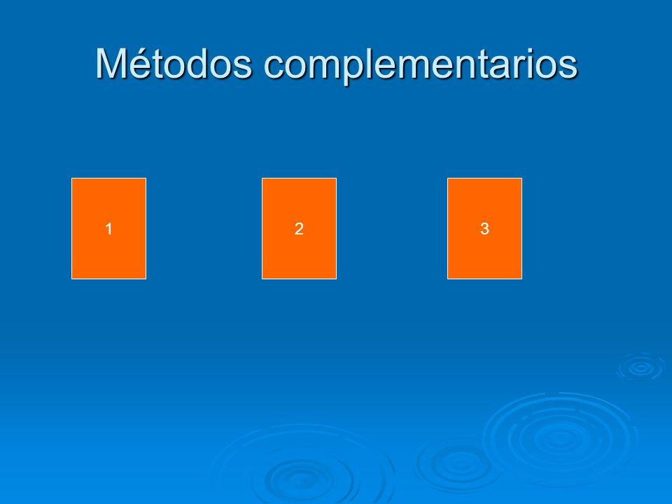 Métodos complementarios 123