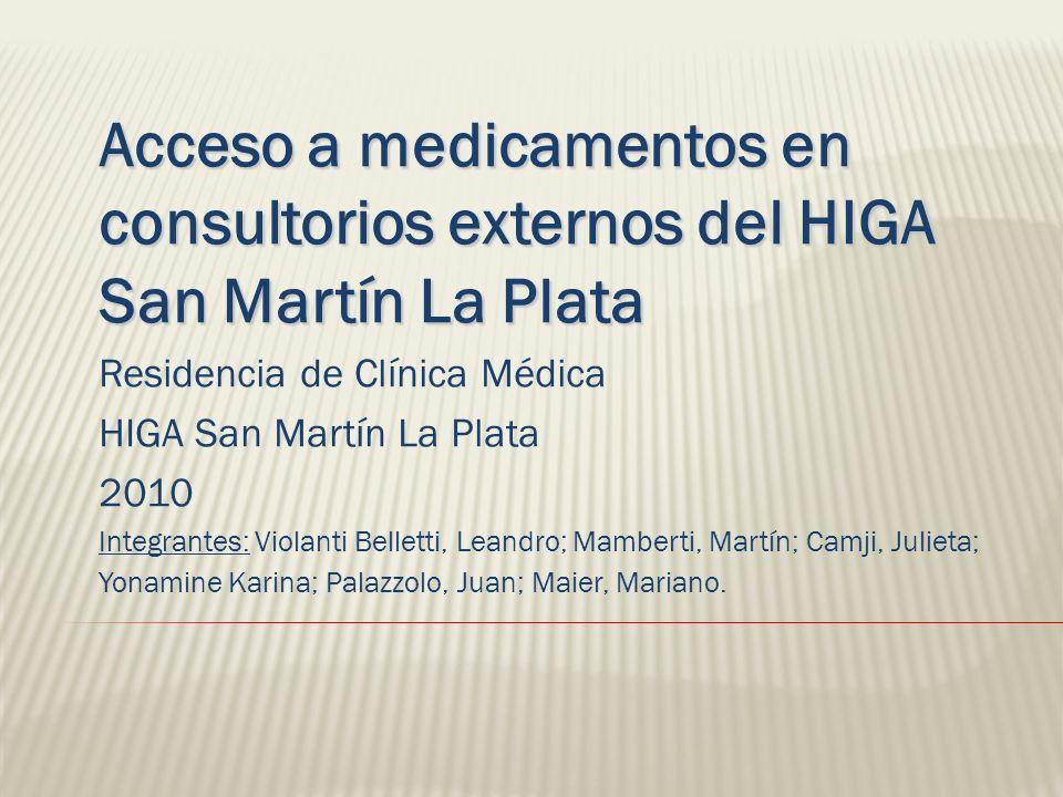 Desde una perspectiva social y sanitaria se pueden formular tres hipótesis respecto al acceso a medicamentos: Parte de la población no accede a los servicios básicos de Salud.