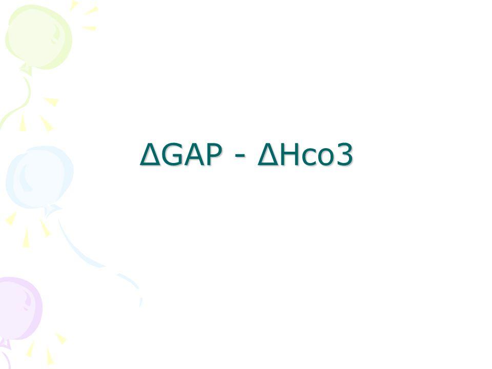 ΔGAP - ΔHco3
