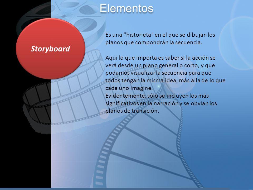 Storyboard Elementos Es una