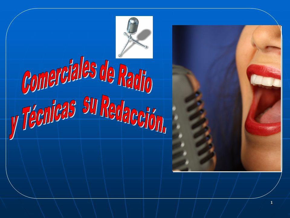 2 INTRODUCCIÓN A continuación te presento diversos Tipos de Comerciales de Radio y las Técnicas para la redacción de textos publicitarios a fin de conocer los fundamentos teóricos y así estar en condiciones de redactar mensajes radiofónicos efectivos.