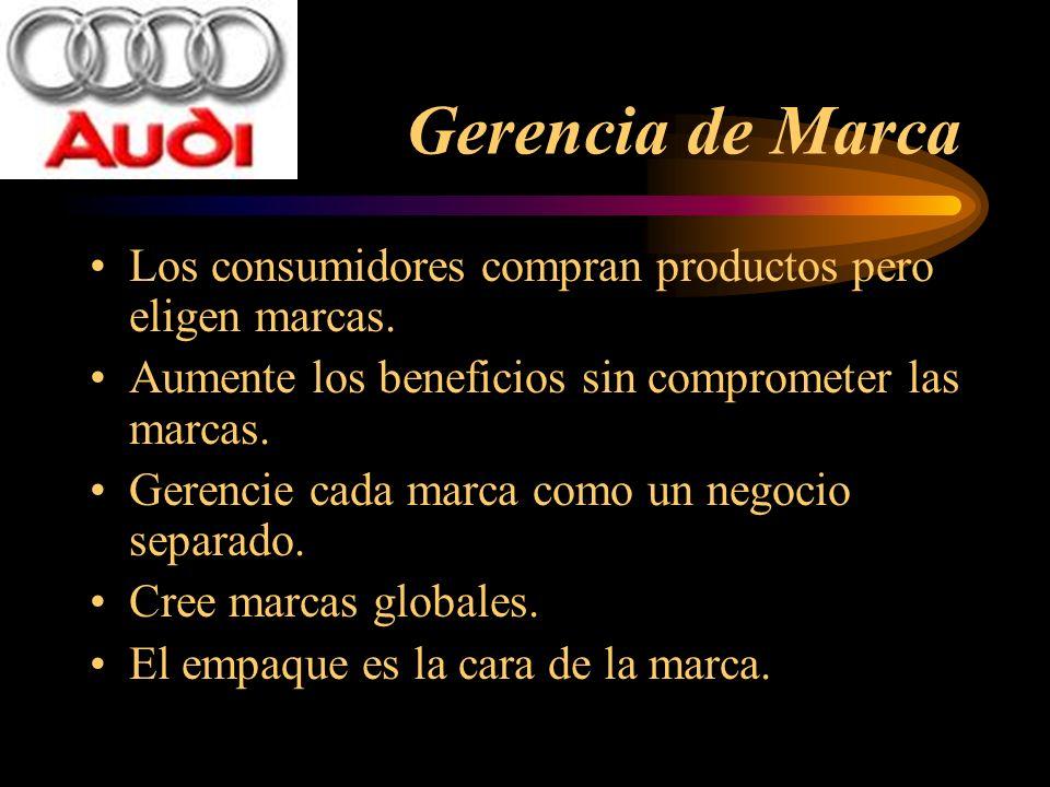 Gerencia de Marca Los consumidores compran productos pero eligen marcas. Aumente los beneficios sin comprometer las marcas. Gerencie cada marca como u