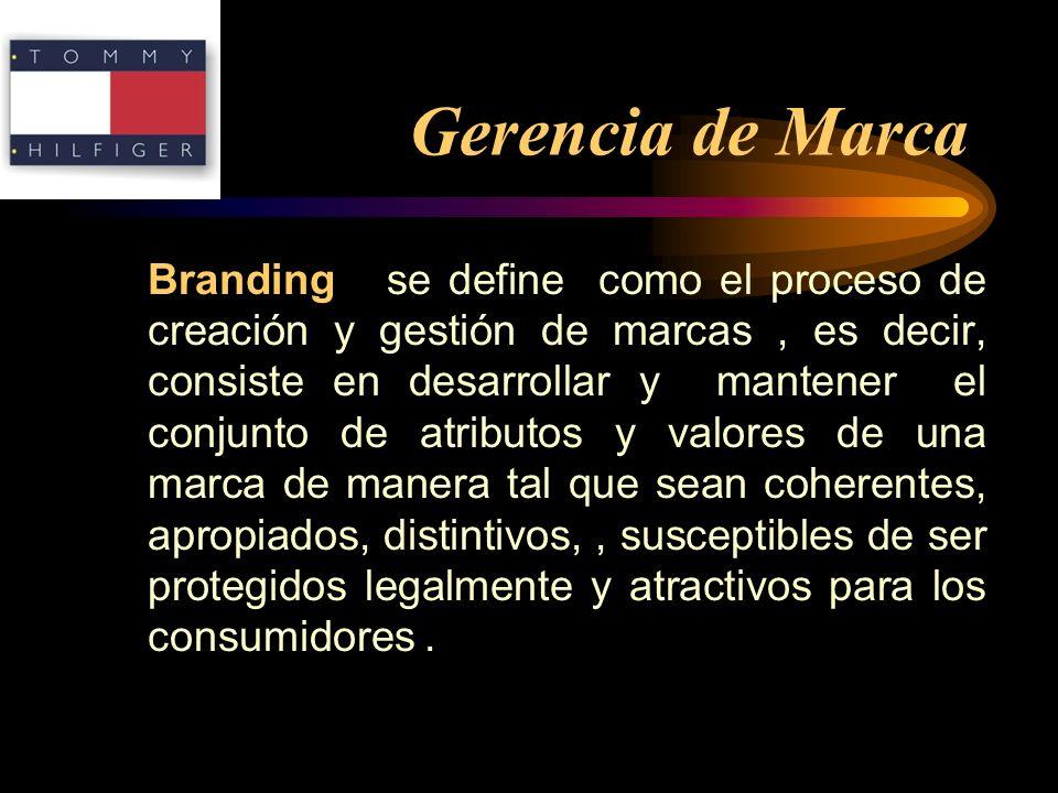 Gerencia de Marca Branding se define como el proceso de creación y gestión de marcas, es decir, consiste en desarrollar y mantener el conjunto de atri