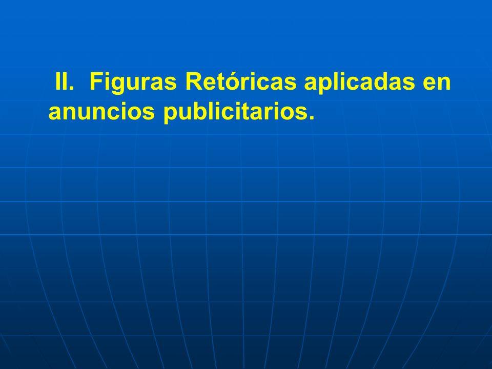 II. Figuras Retóricas aplicadas en anuncios publicitarios.