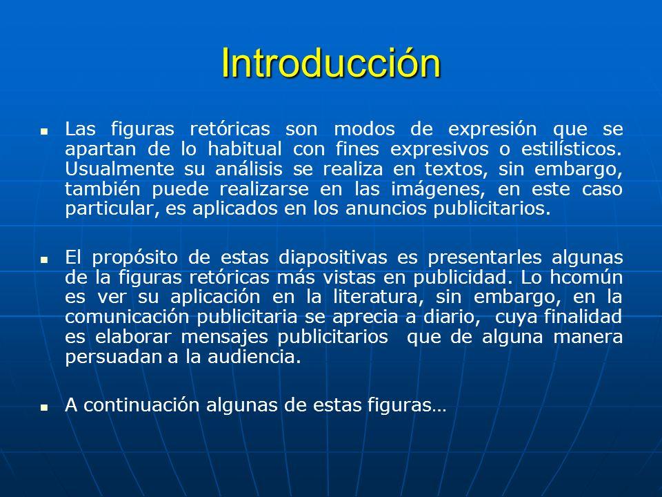 Introducción Las figuras retóricas son modos de expresión que se apartan de lo habitual con fines expresivos o estilísticos.