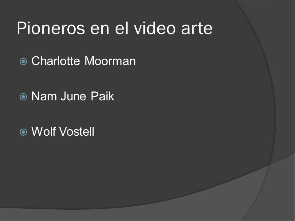 Pioneros en el video arte Charlotte Moorman Nam June Paik Wolf Vostell