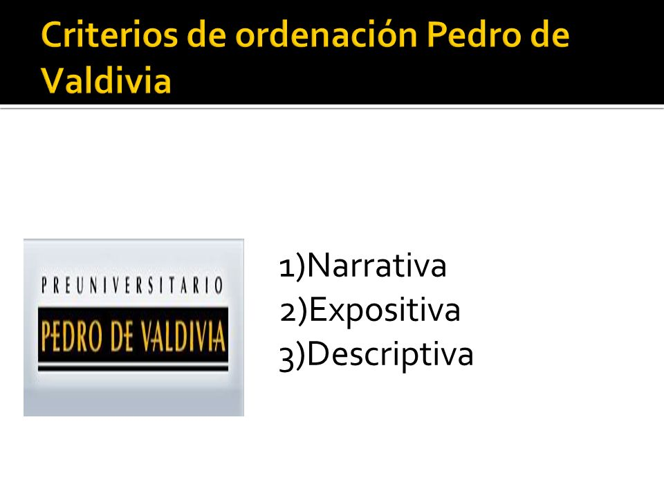 1)Narrativa 2)Expositiva 3)Descriptiva