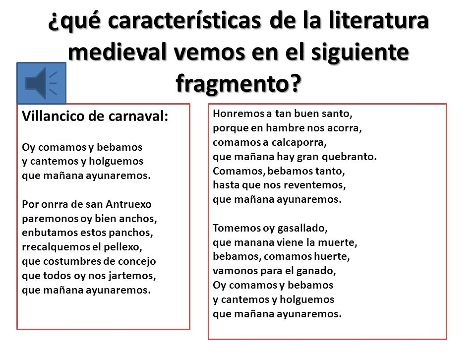 ¿qué características de la literatura medieval vemos en el siguiente fragmento.