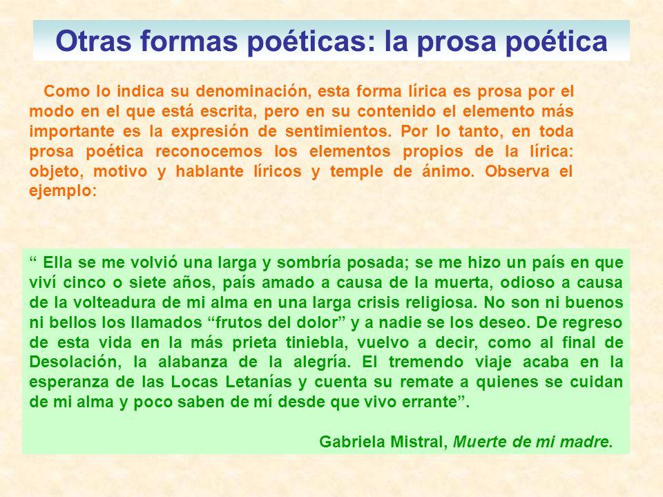 ejemplo prosa poetica: