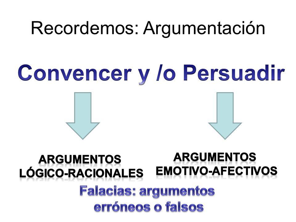 Argumentos afectivos