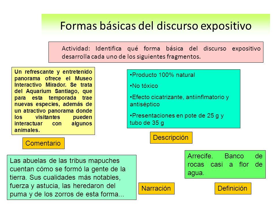Ideas fuerza de la clase: Exponer significa mostrar, presentar, explicar ideas.