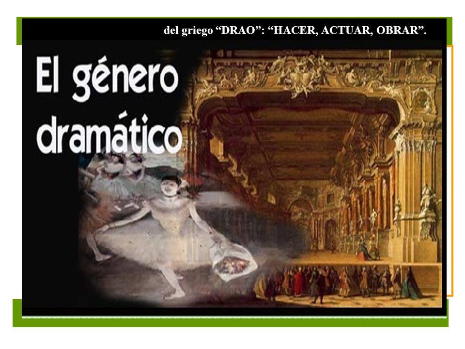 Seleccione la opción que contiene conceptos referidos a la obra dramática y a la obra teatral.