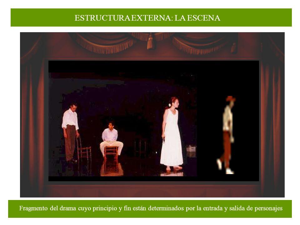 ¿Cuál de los siguientes elementos de una obra teatral queda definido (o marcado) por la entrada o salida de un personaje del escenario.