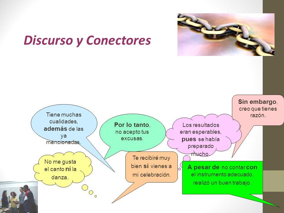 Objetivos de esta clase: Reconocer y aplicar el concepto de discurso.