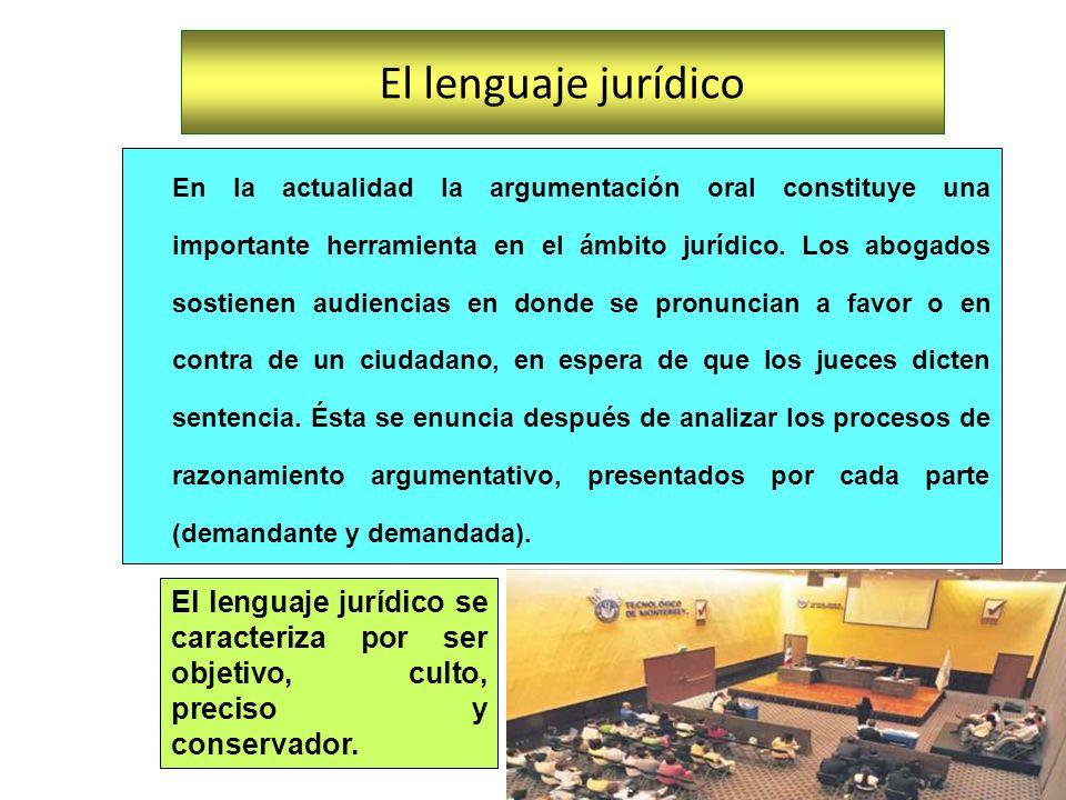 En la actualidad la argumentación oral constituye una importante herramienta en el ámbito jurídico. Los abogados sostienen audiencias en donde se pron