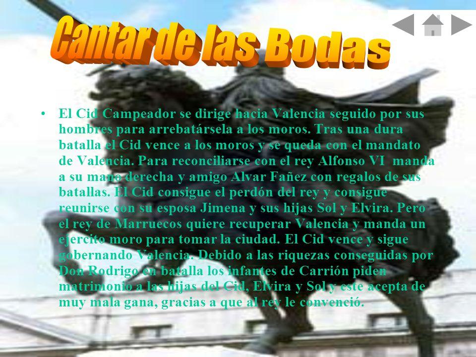 El Cid Campeador se dirige hacia Valencia seguido por sus hombres para arrebatársela a los moros. Tras una dura batalla el Cid vence a los moros y se