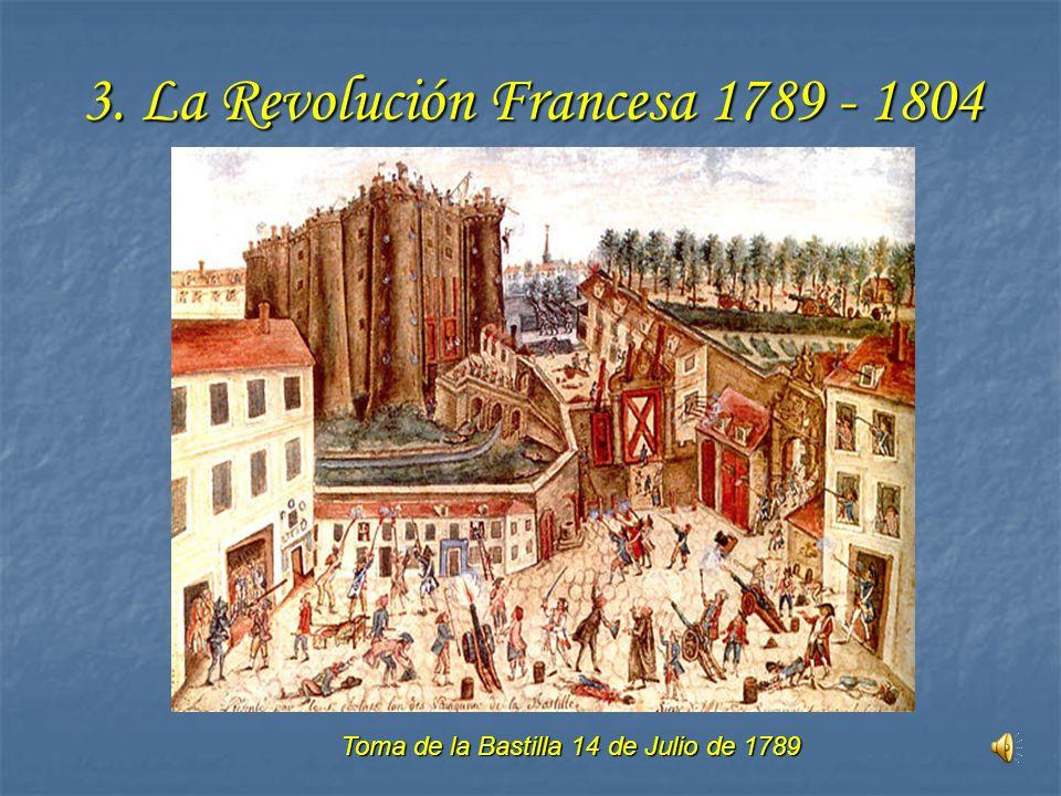 3. La Revolución Francesa 1789 - 1804 Toma de la Bastilla 14 de Julio de 1789