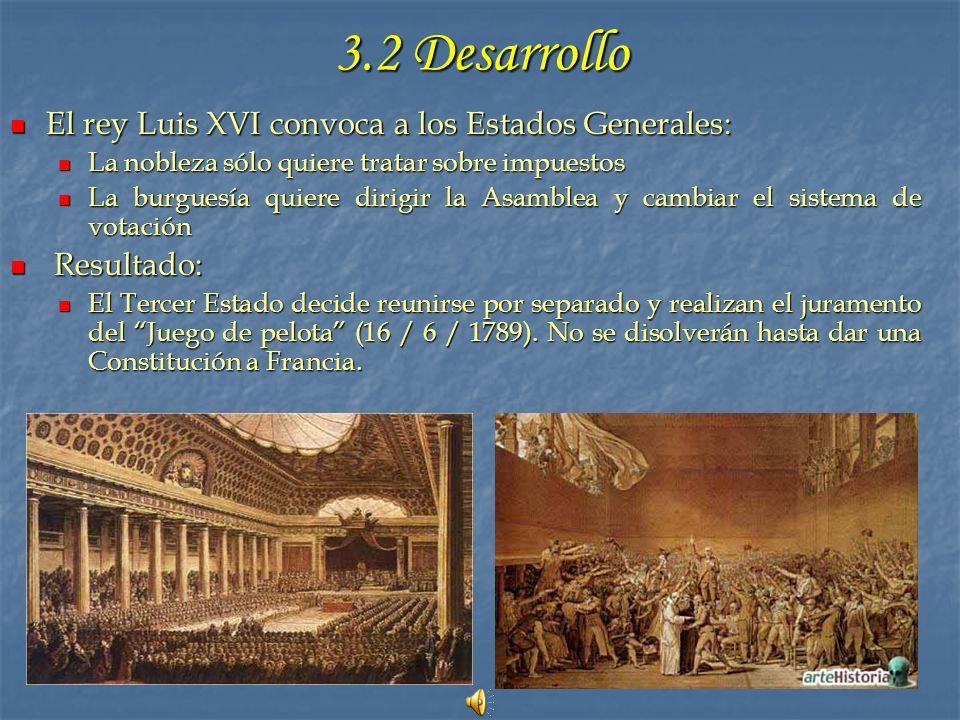3.2 Desarrollo El rey Luis XVI convoca a los Estados Generales: El rey Luis XVI convoca a los Estados Generales: La nobleza sólo quiere tratar sobre i