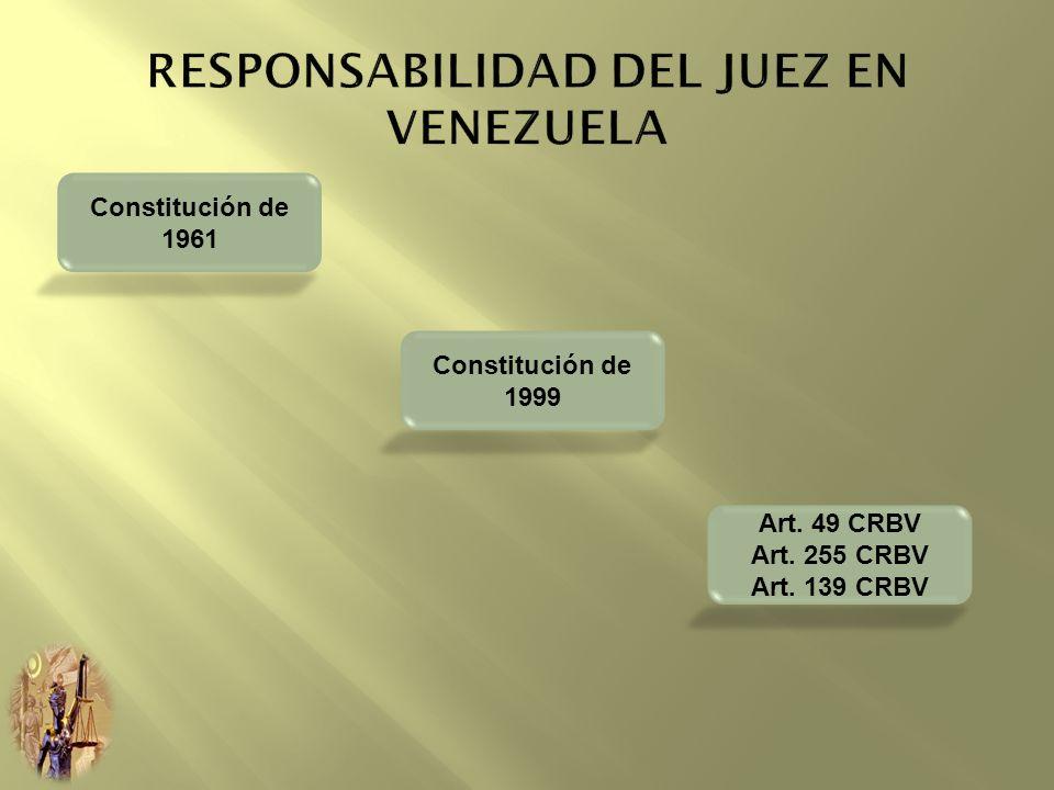 Constitución de 1961 Constitución de 1999 Art. 49 CRBV Art. 255 CRBV Art. 139 CRBV