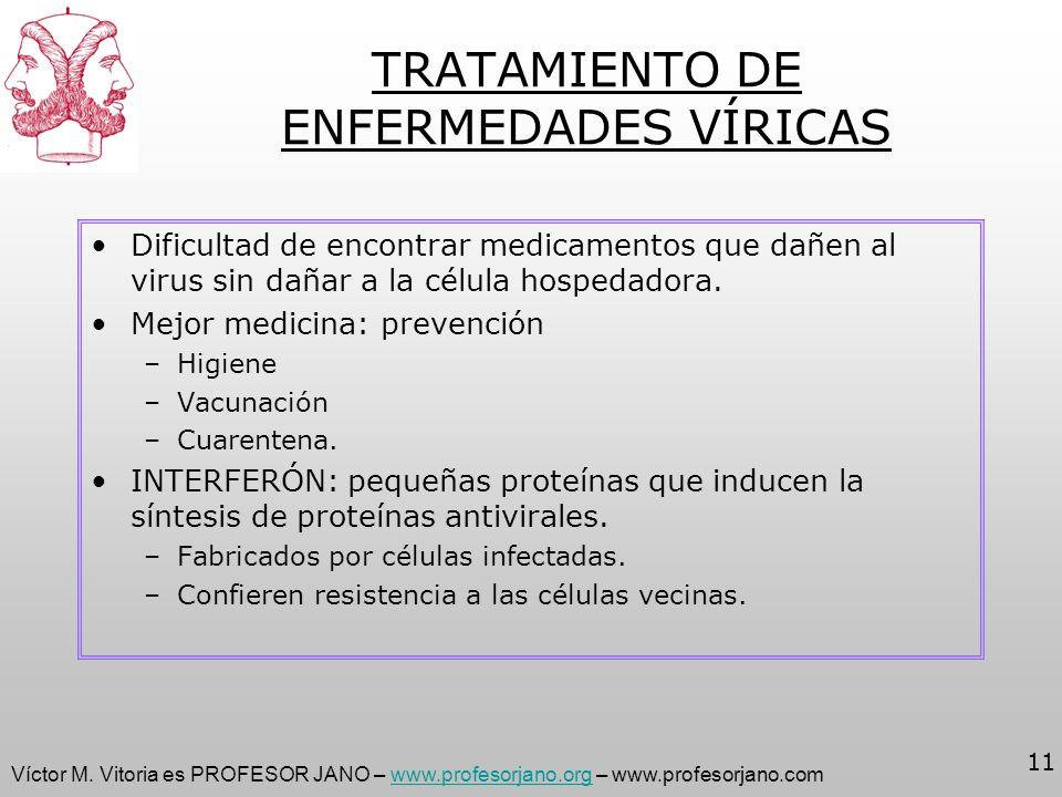 Víctor M. Vitoria es PROFESOR JANO – www.profesorjano.org – www.profesorjano.comwww.profesorjano.org 11 TRATAMIENTO DE ENFERMEDADES VÍRICAS Dificultad