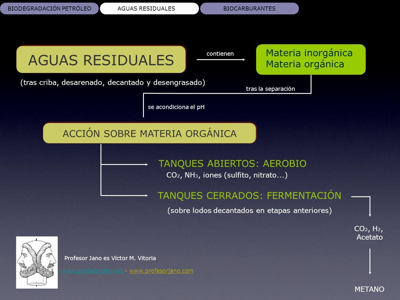AGUAS RESIDUALES Profesor Jano es Víctor M. Vitoria www.profesorjano.orgwww.profesorjano.org - www.profesorjano.com BIODEGRADACIÓN PETRÓLEOAGUAS RESID