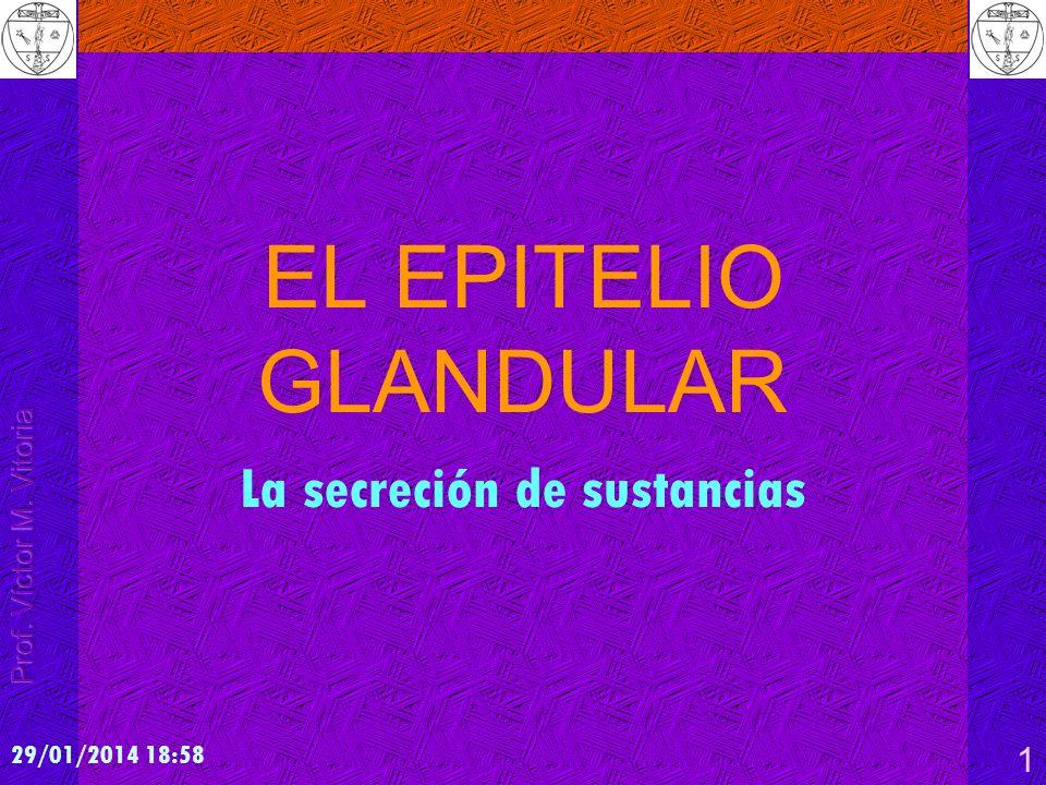 29/01/2014 19:00 1 EL EPITELIO GLANDULAR La secreción de sustancias