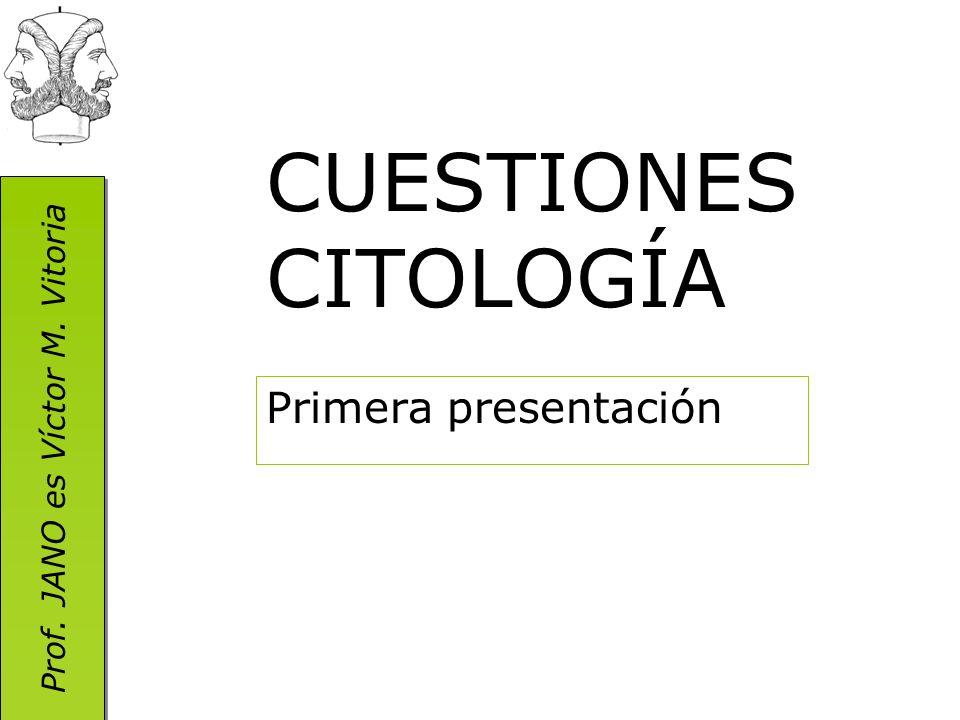 Prof. JANO es Víctor M. Vitoria CUESTIONES CITOLOGÍA Primera presentación