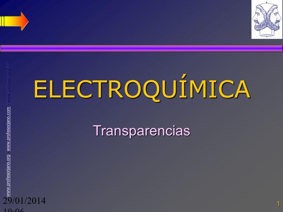29/01/2014 19:08 1 ELECTROQUÍMICA Transparencias