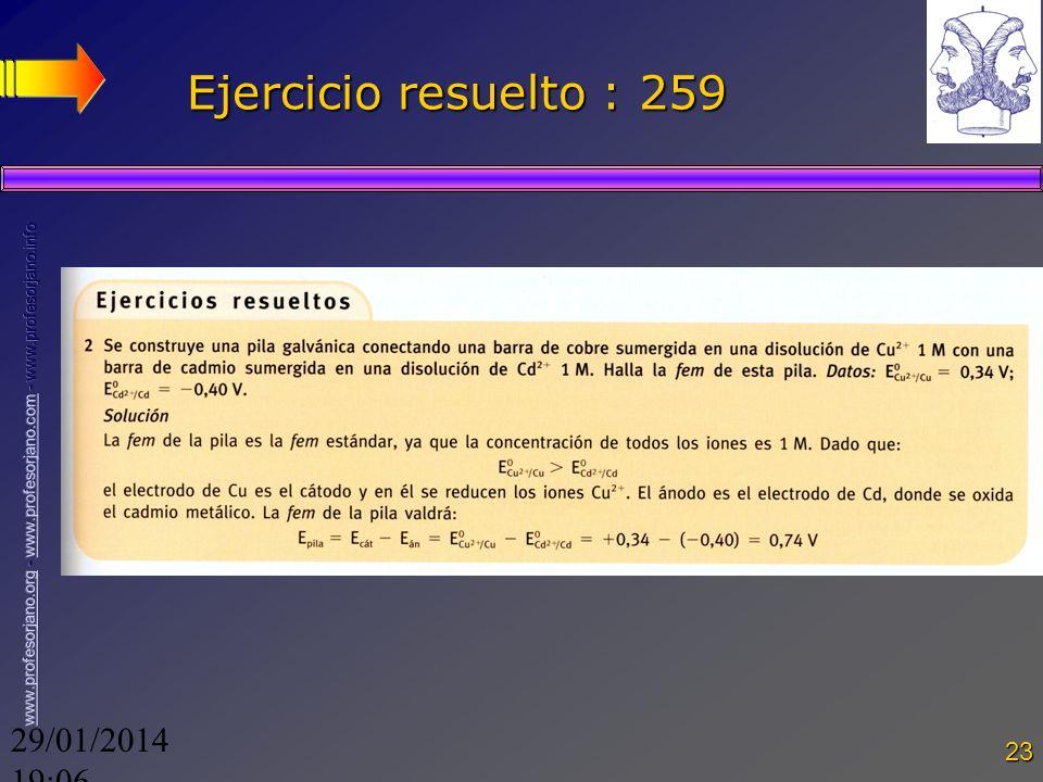29/01/2014 19:08 23 Ejercicio resuelto : 259