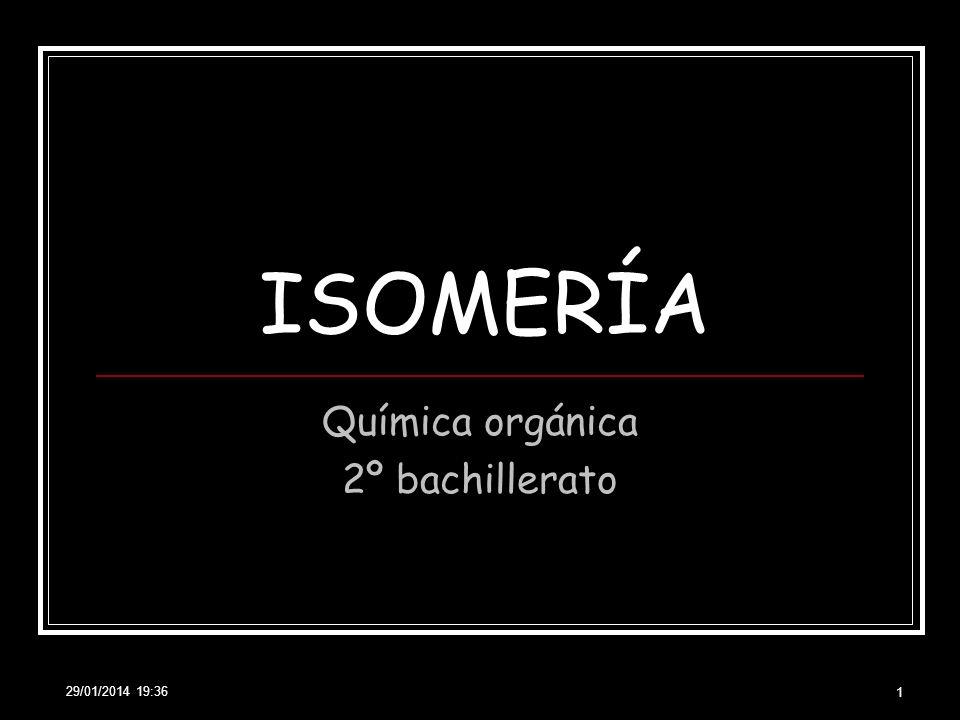 29/01/2014 19:38 1 ISOMERÍA Química orgánica 2º bachillerato