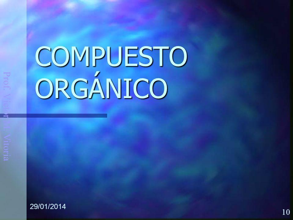 Prof. Víctor M. Vitoria 29/01/2014 10 COMPUESTO ORGÁNICO