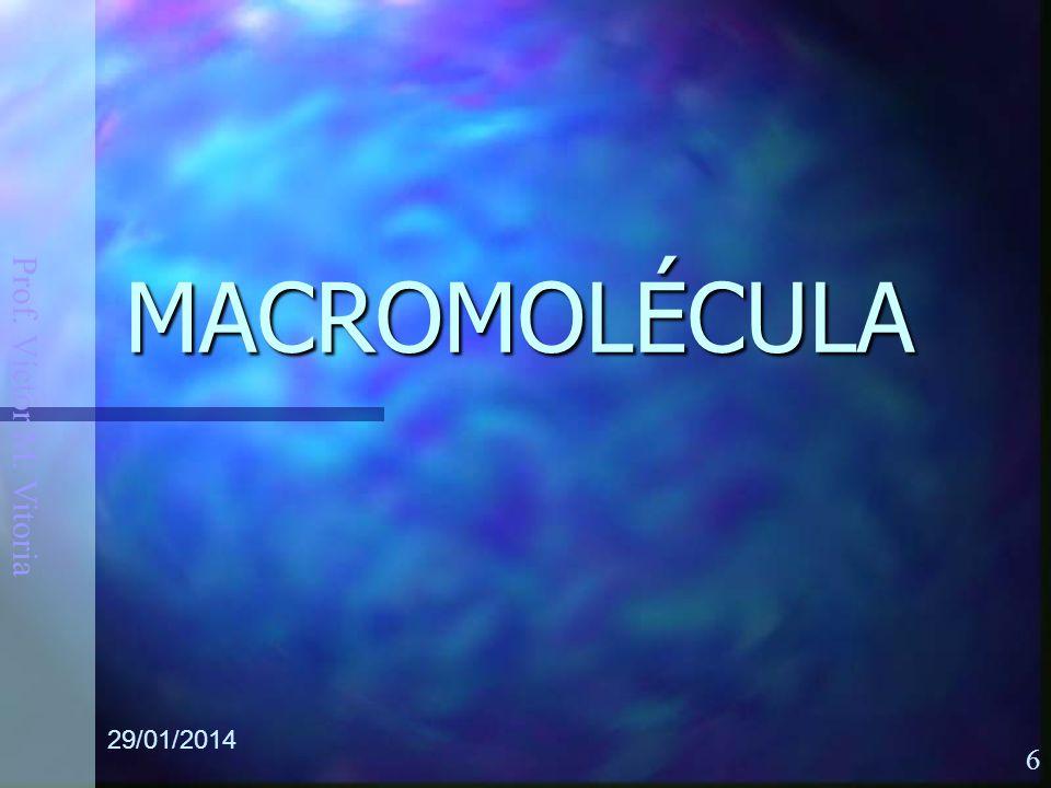 Prof. Víctor M. Vitoria 29/01/2014 6 MACROMOLÉCULA