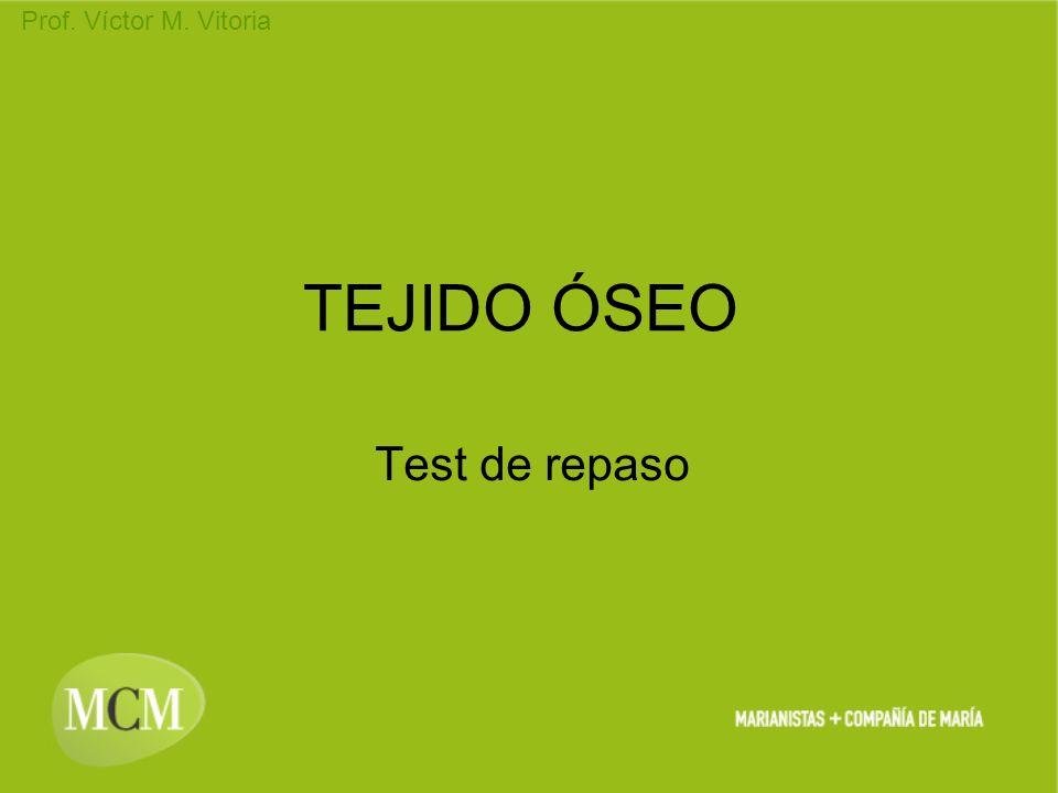 Prof. Víctor M. Vitoria TEJIDO ÓSEO Test de repaso