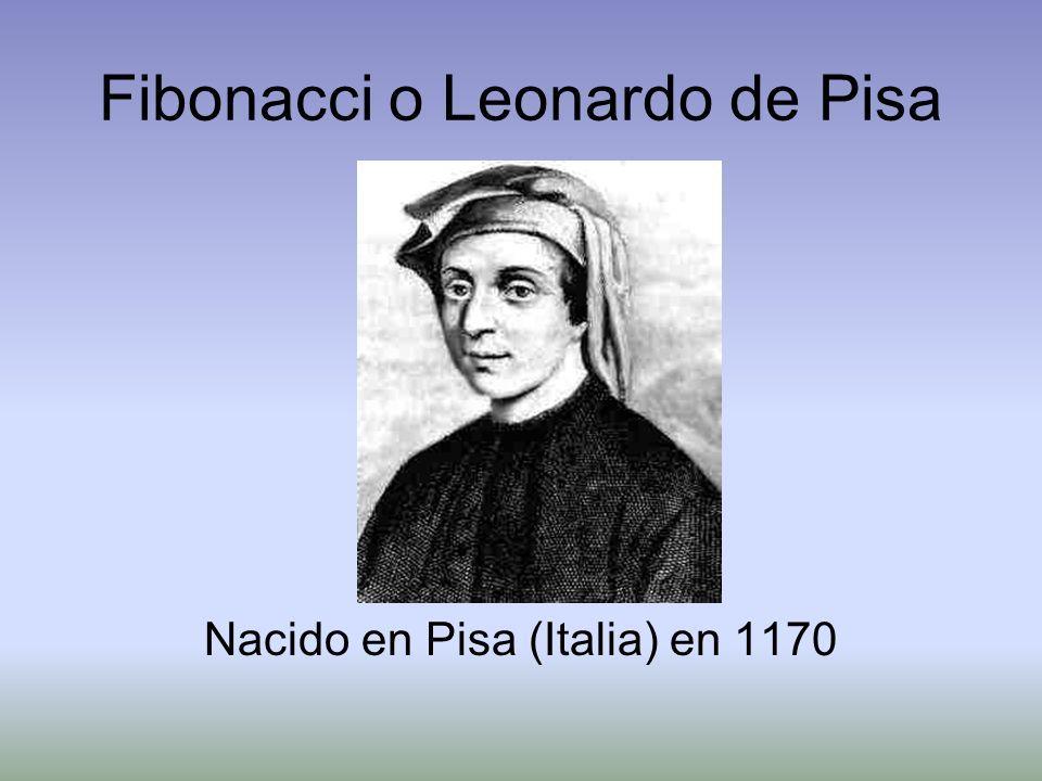 Fibonacci o Leonardo de Pisa Nacido en Pisa (Italia) en 1170