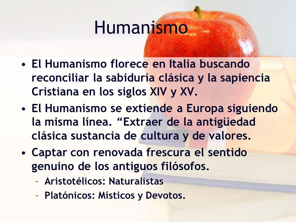 Humanismo en la Educación Formar al Hombre en Cuanto a Hombre Cultivar en todo momento la personalidad humana Educación Aristocrática: –No se ocuparon de la educación popular.