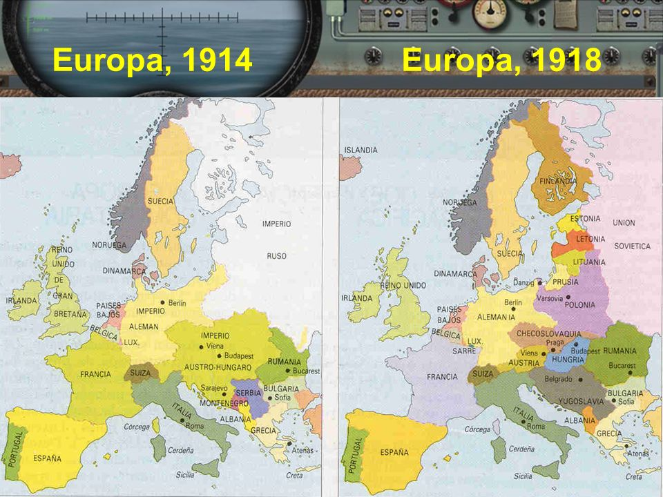 Europa, 1914 Europa, 1918