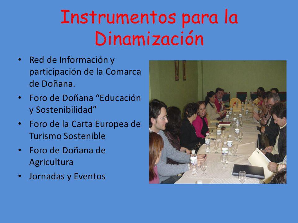 Instrumentos para la Dinamización Red de Información y participación de la Comarca de Doñana.
