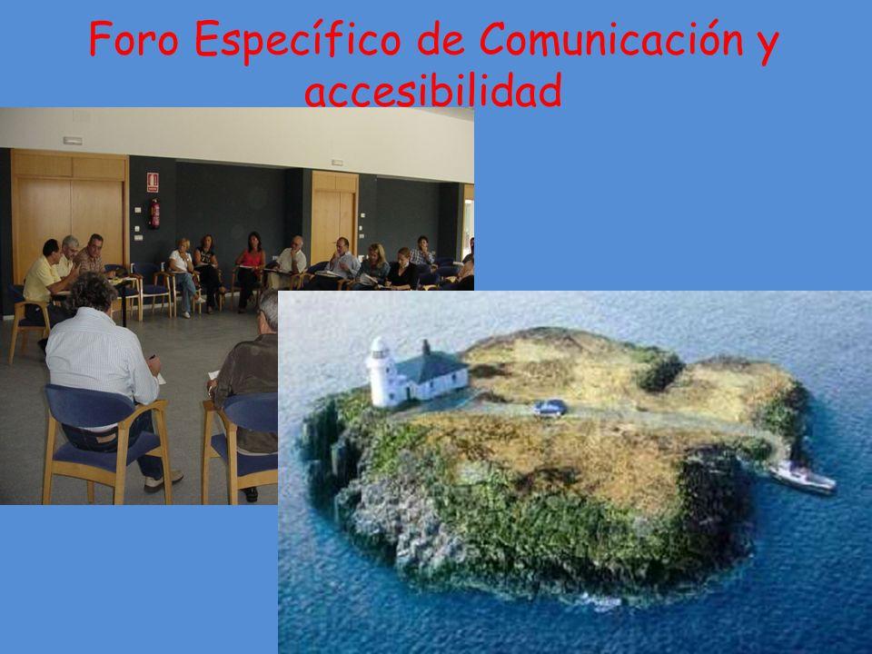 Foro Específico de Comunicación y accesibilidad