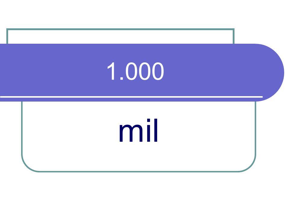 1.000 mil