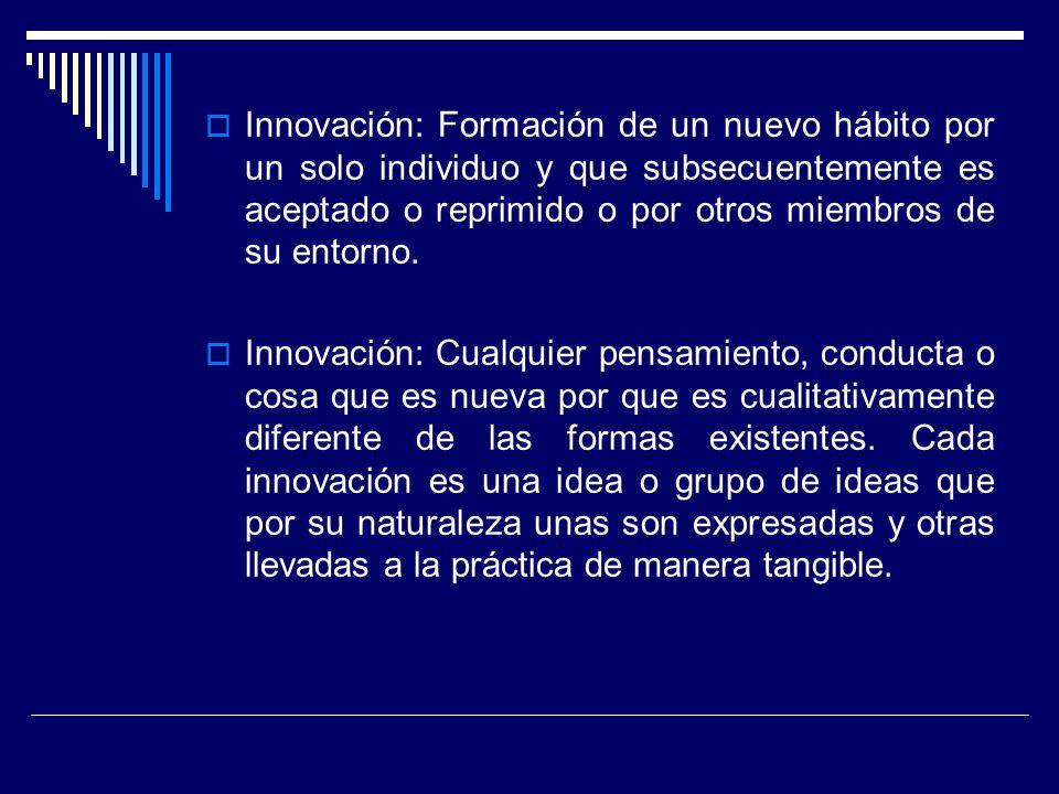¿Innovación es igual a novedad.