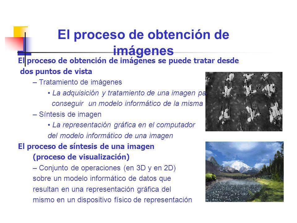 El proceso de obtención de imágenes se puede tratar desde dos puntos de vista – Tratamiento de imágenes La adquisición y tratamiento de una imagen par