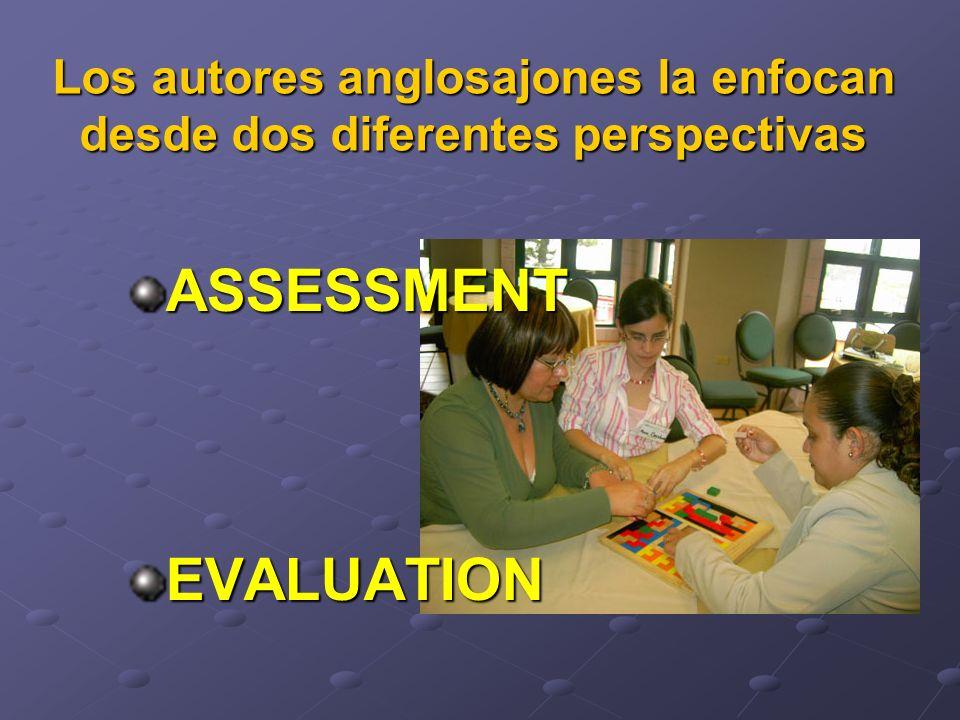 Assessment: como una forma de evaluacion del aprendizaje del alumno.