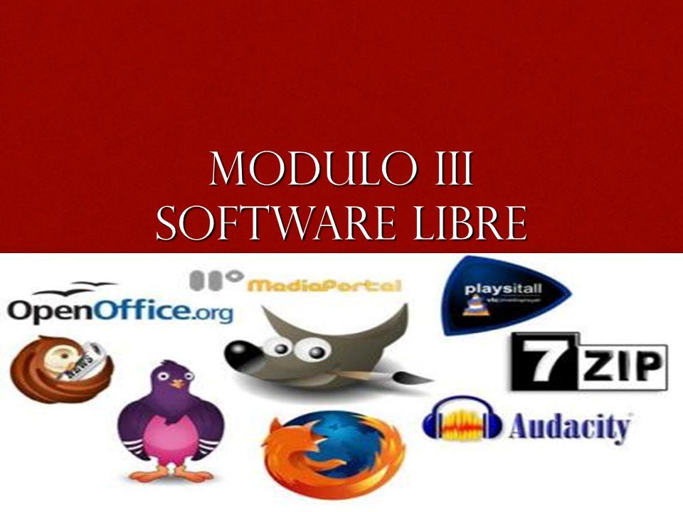 Modulo III Software libre