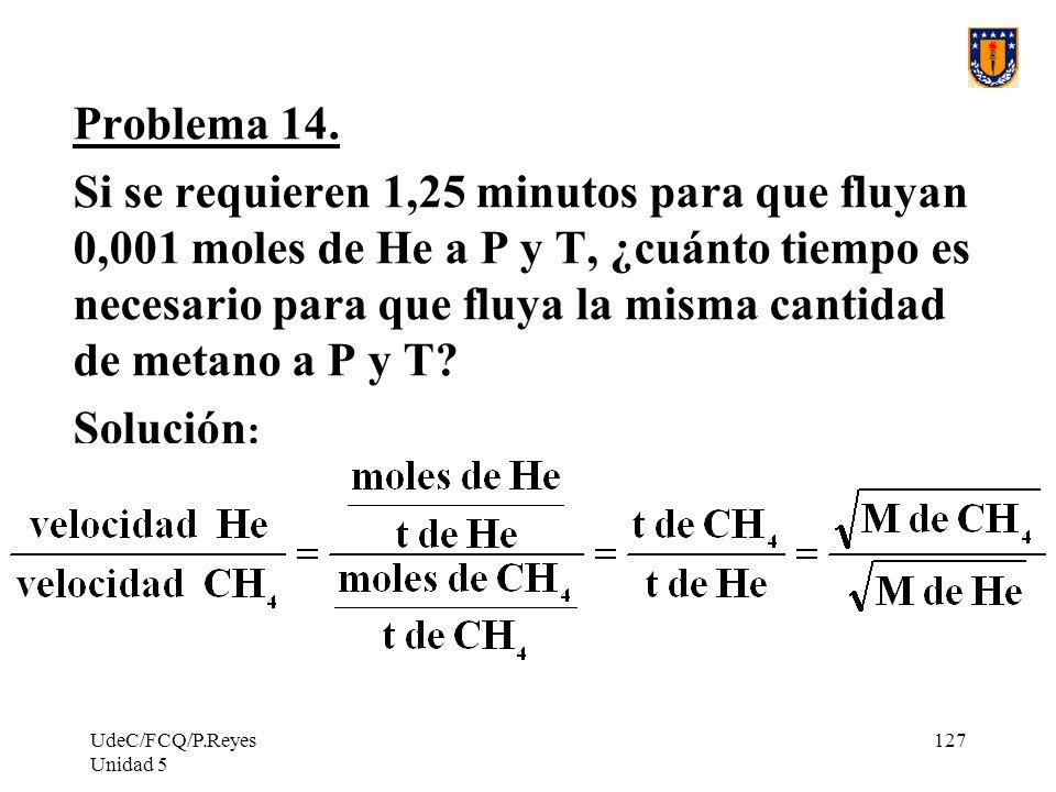 UdeC/FCQ/P.Reyes Unidad 5 127 Problema 14.