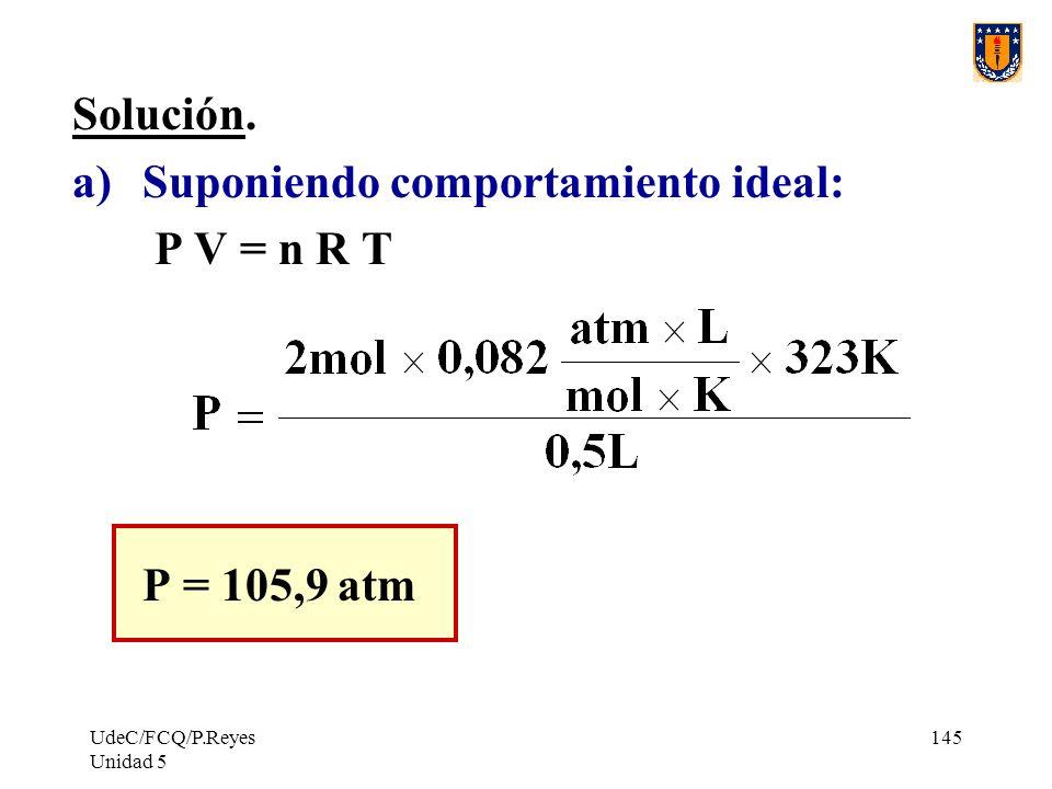 UdeC/FCQ/P.Reyes Unidad 5 145 Solución.