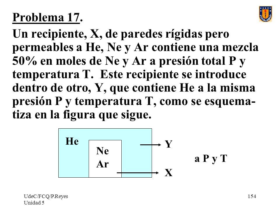 UdeC/FCQ/P.Reyes Unidad 5 154 Problema 17.