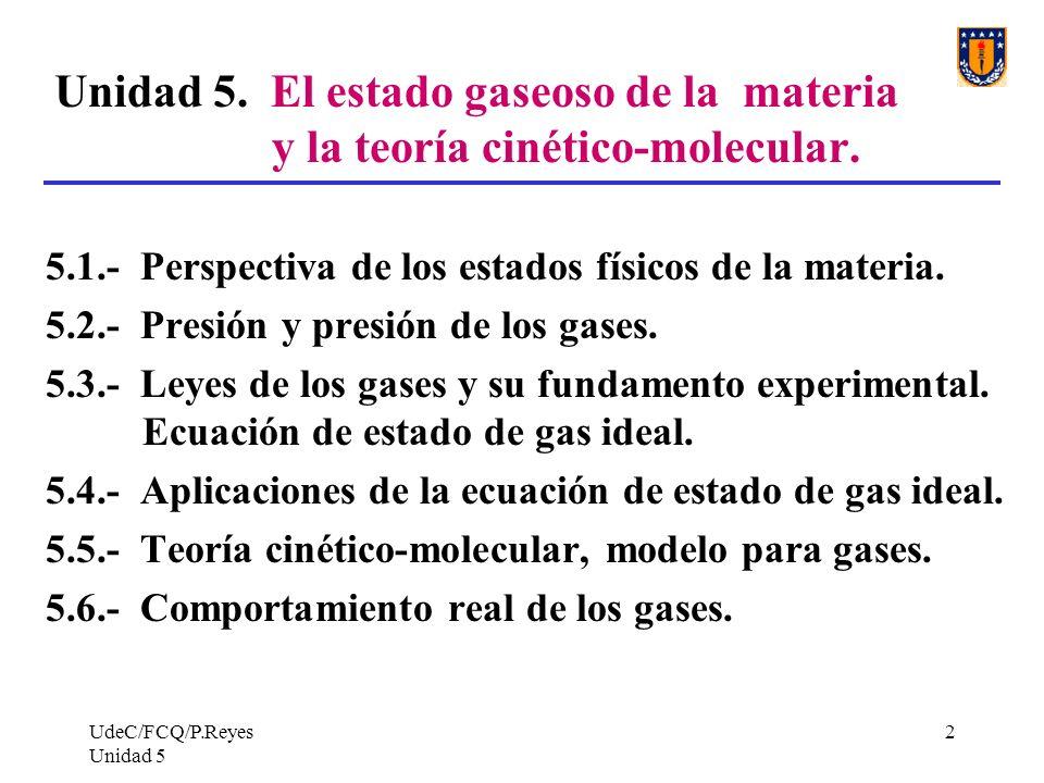 UdeC/FCQ/P.Reyes Unidad 5 2 Unidad 5.