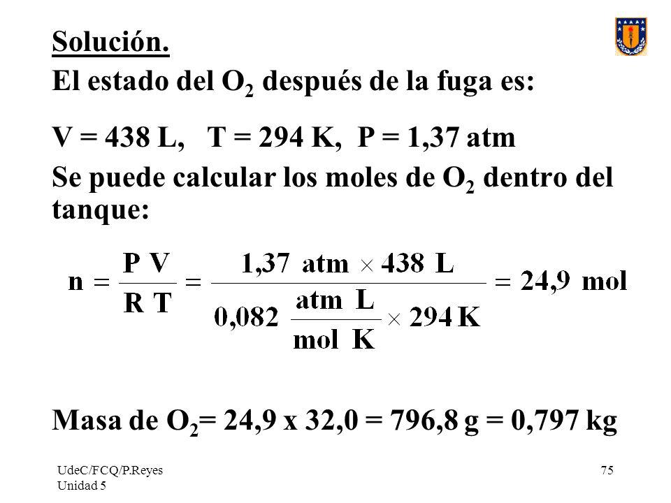 UdeC/FCQ/P.Reyes Unidad 5 75 Solución.