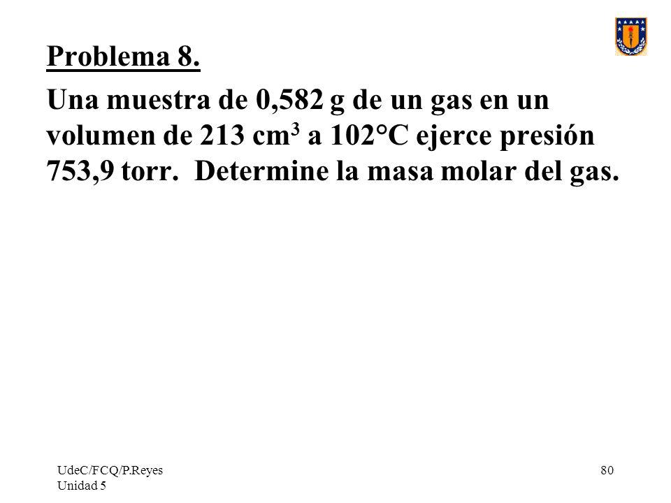 UdeC/FCQ/P.Reyes Unidad 5 80 Problema 8.